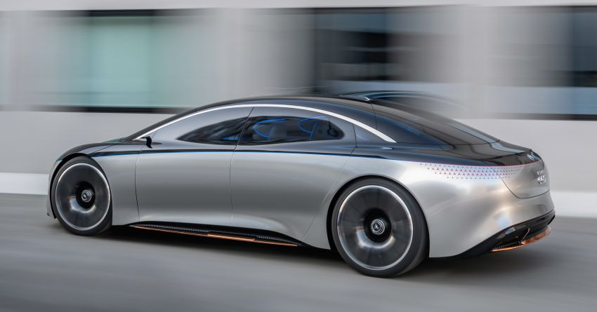 Mercedes-Benz Vision EQS debuts – concept electric flagship with over 470 hp, 760 Nm and 700 km range Image #1012556