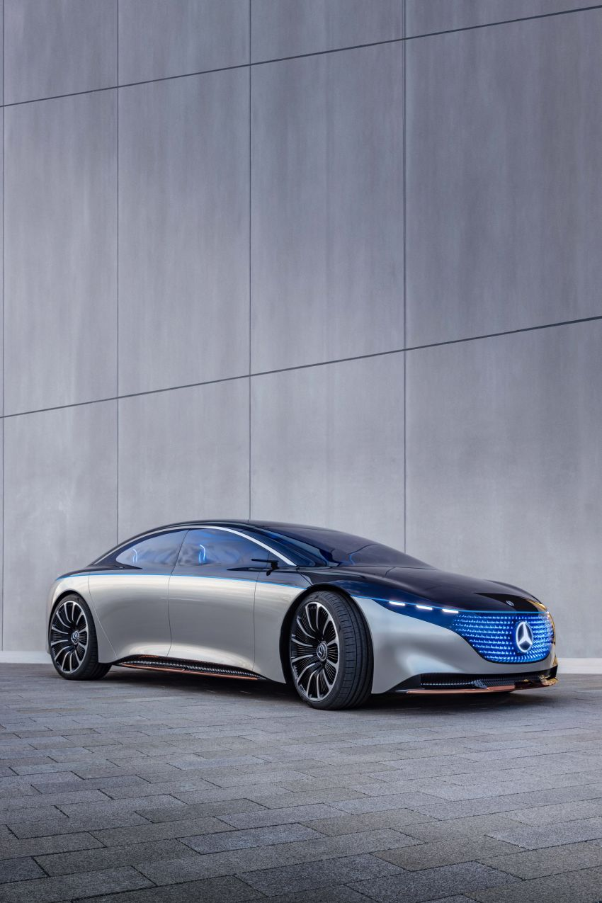 Mercedes-Benz Vision EQS debuts – concept electric flagship with over 470 hp, 760 Nm and 700 km range Image #1012538