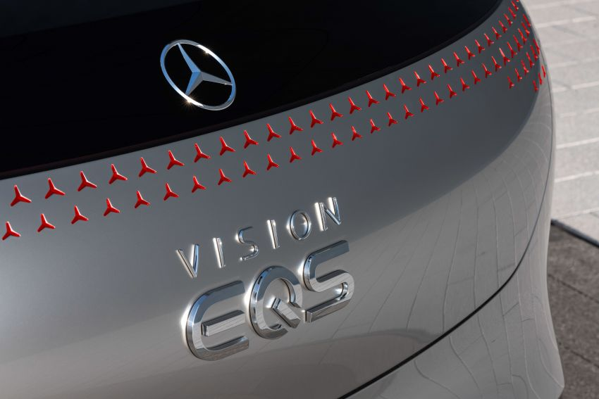 Mercedes-Benz Vision EQS debuts – concept electric flagship with over 470 hp, 760 Nm and 700 km range Image #1012557