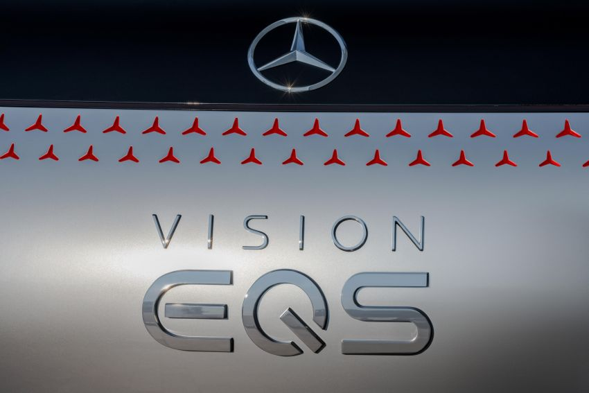 Mercedes-Benz Vision EQS debuts – concept electric flagship with over 470 hp, 760 Nm and 700 km range Image #1012558