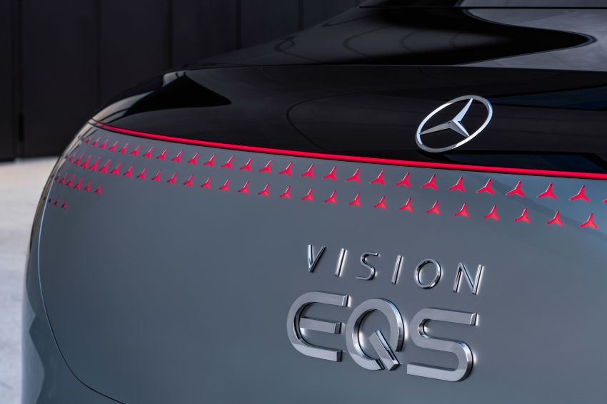 Mercedes-Benz Vision EQS debuts – concept electric flagship with over 470 hp, 760 Nm and 700 km range Image #1012559