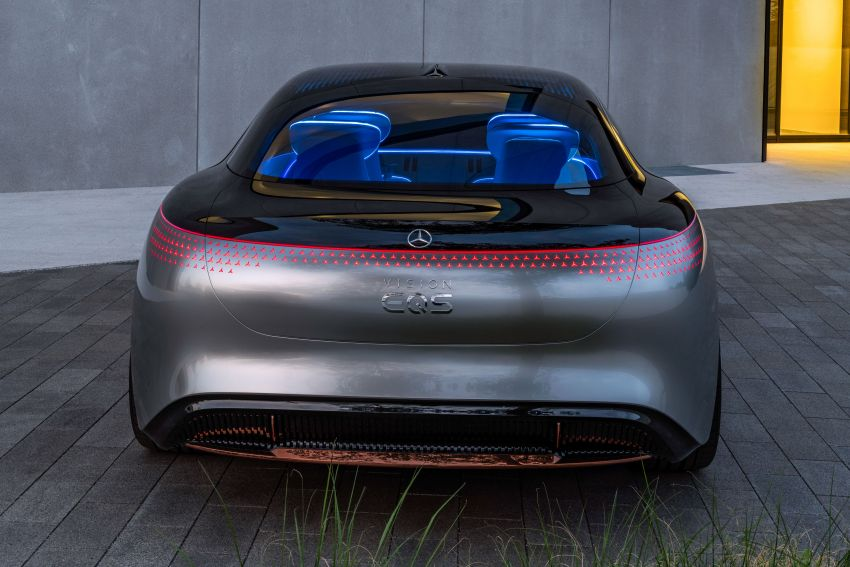 Mercedes-Benz Vision EQS debuts – concept electric flagship with over 470 hp, 760 Nm and 700 km range Image #1012561