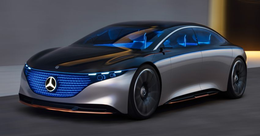 Mercedes-Benz Vision EQS debuts – concept electric flagship with over 470 hp, 760 Nm and 700 km range Image #1012562