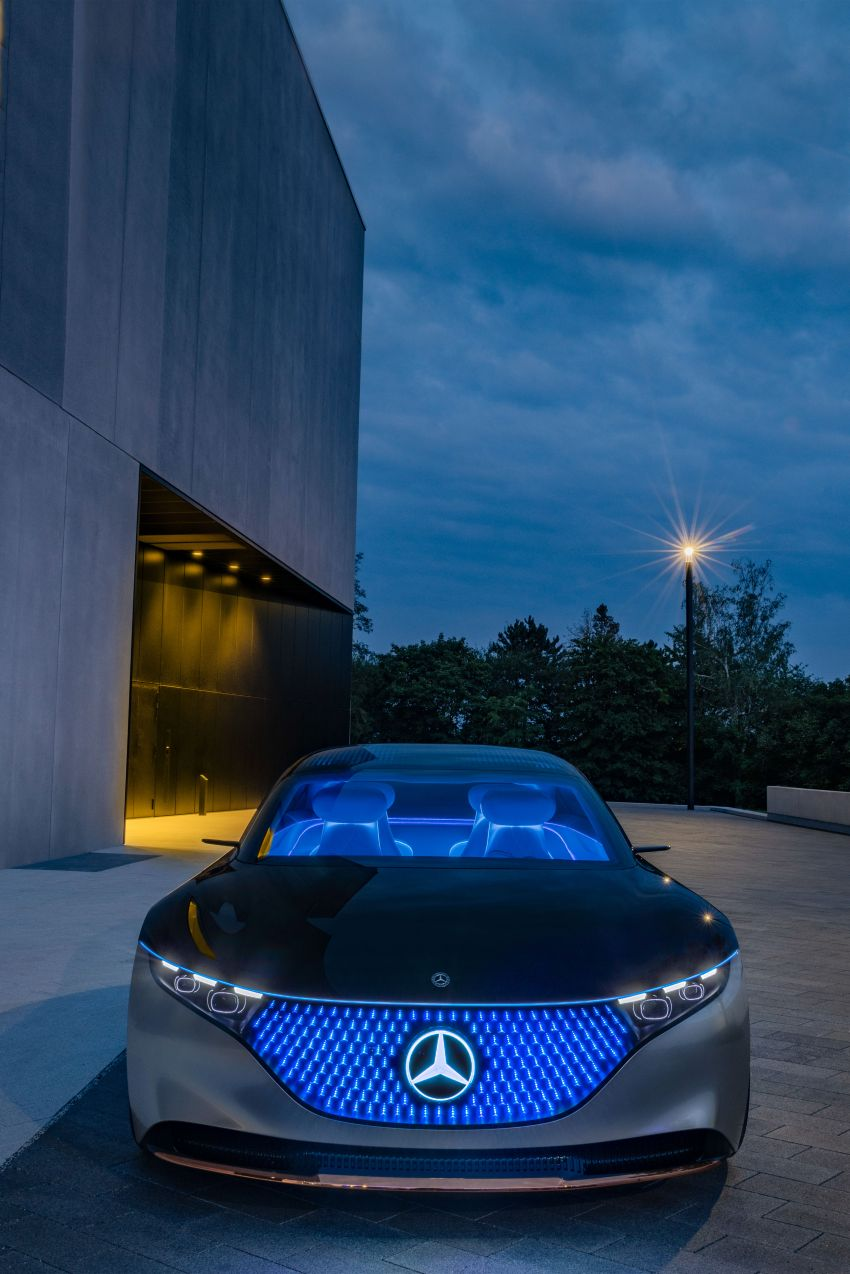 Mercedes-Benz Vision EQS debuts – concept electric flagship with over 470 hp, 760 Nm and 700 km range Image #1012565