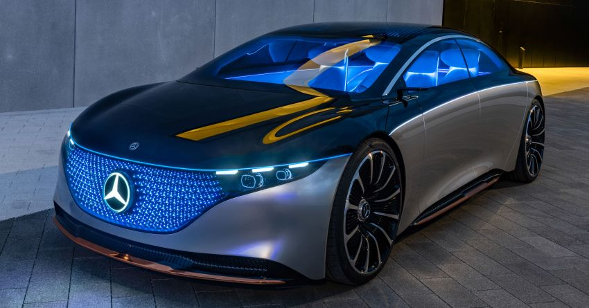 Mercedes-Benz Vision EQS debuts – concept electric flagship with over 470 hp, 760 Nm and 700 km range Image #1012566