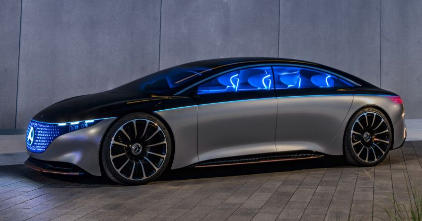 Mercedes-Benz Vision EQS debuts – concept electric flagship with over 470 hp, 760 Nm and 700 km range Image #1012567