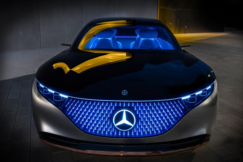 Mercedes-Benz Vision EQS debuts – concept electric flagship with over 470 hp, 760 Nm and 700 km range Image #1012568