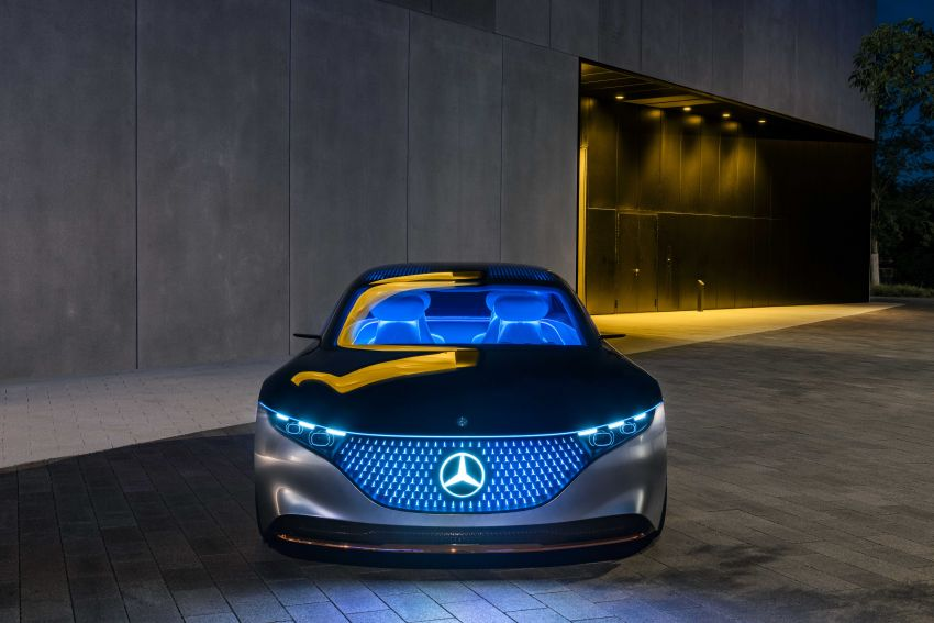 Mercedes-Benz Vision EQS debuts – concept electric flagship with over 470 hp, 760 Nm and 700 km range Image #1012570