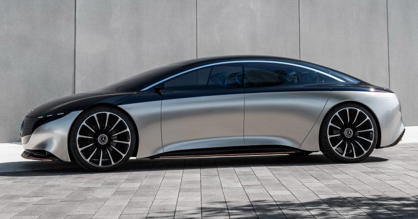 Mercedes-Benz Vision EQS debuts – concept electric flagship with over 470 hp, 760 Nm and 700 km range Image #1012571
