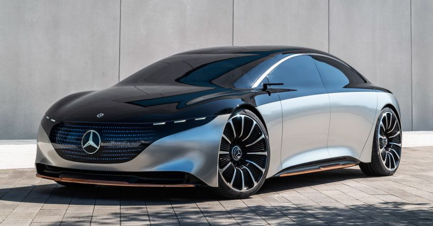 Mercedes-Benz Vision EQS debuts – concept electric flagship with over 470 hp, 760 Nm and 700 km range Image #1012572