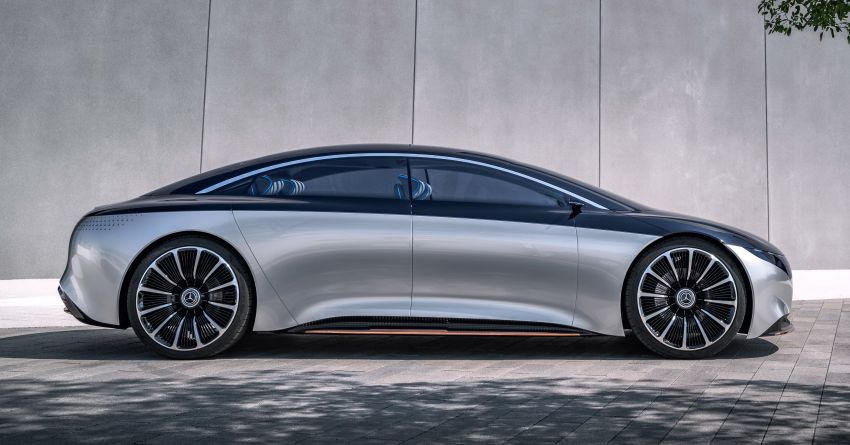 Mercedes-Benz Vision EQS debuts – concept electric flagship with over 470 hp, 760 Nm and 700 km range Image #1012574