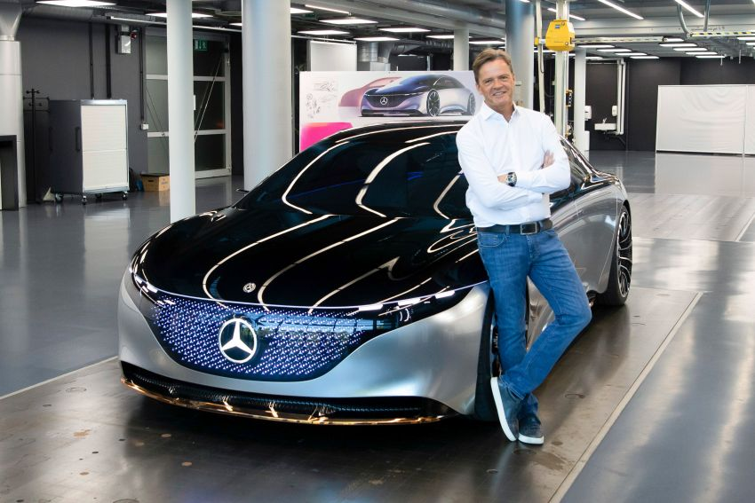 Mercedes-Benz Vision EQS debuts – concept electric flagship with over 470 hp, 760 Nm and 700 km range Image #1012540