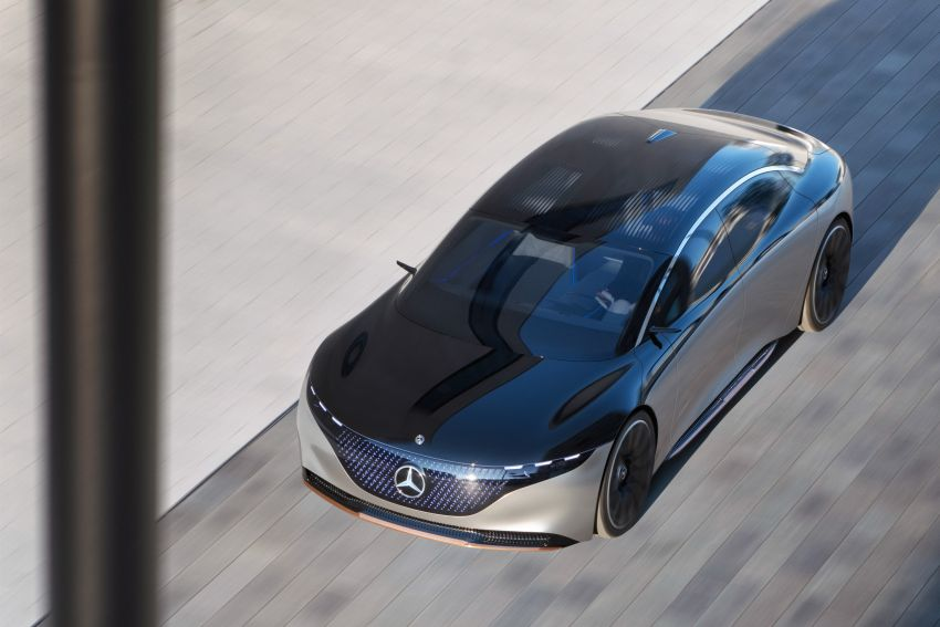 Mercedes-Benz Vision EQS debuts – concept electric flagship with over 470 hp, 760 Nm and 700 km range Image #1012579