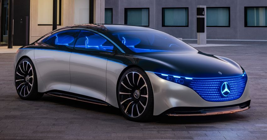 Mercedes-Benz Vision EQS debuts – concept electric flagship with over 470 hp, 760 Nm and 700 km range Image #1012580