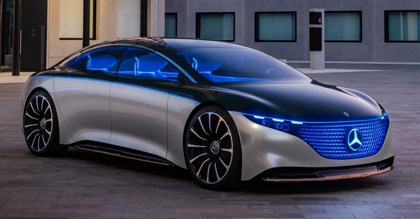 Mercedes-Benz Vision EQS buat penampilan sulung – konsep elektrik, 470 hp/760 Nm, 700 km jarak jalan Image #1012797