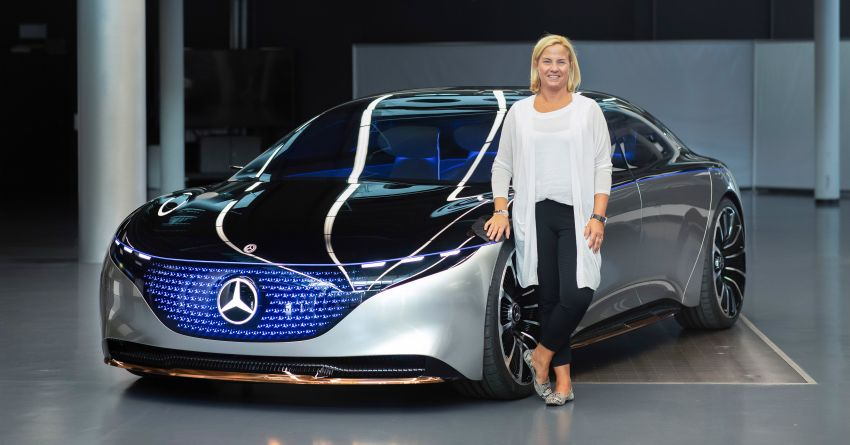 Mercedes-Benz Vision EQS debuts – concept electric flagship with over 470 hp, 760 Nm and 700 km range Image #1012582