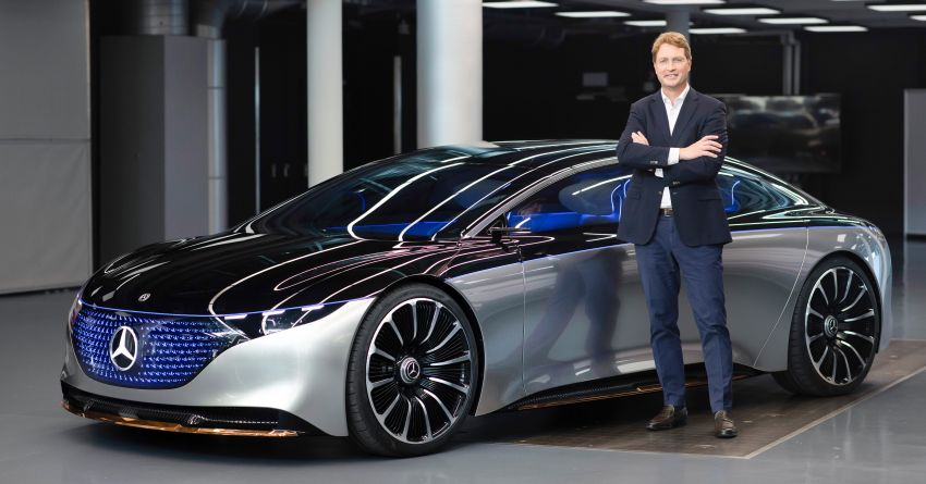 Mercedes-Benz Vision EQS debuts – concept electric flagship with over 470 hp, 760 Nm and 700 km range Image #1012583