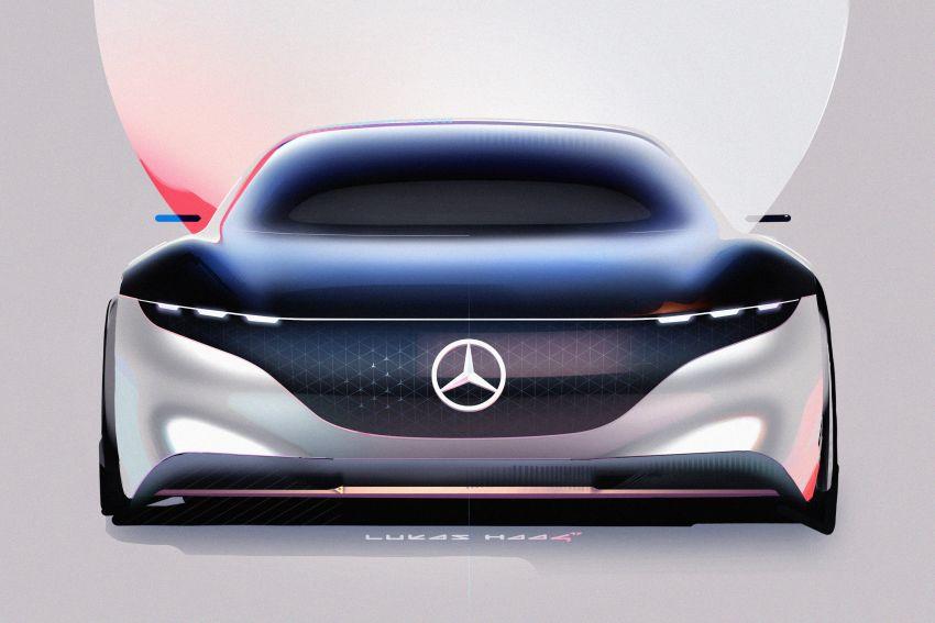 Mercedes-Benz Vision EQS buat penampilan sulung – konsep elektrik, 470 hp/760 Nm, 700 km jarak jalan Image #1012803