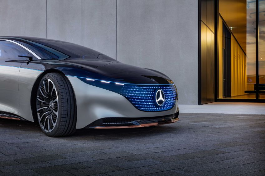 Mercedes-Benz Vision EQS debuts – concept electric flagship with over 470 hp, 760 Nm and 700 km range Image #1012541