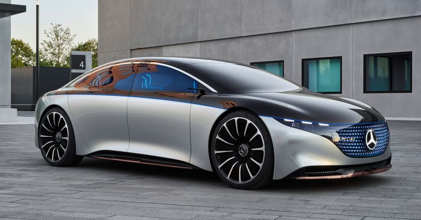 Mercedes-Benz Vision EQS debuts – concept electric flagship with over 470 hp, 760 Nm and 700 km range Image #1012544