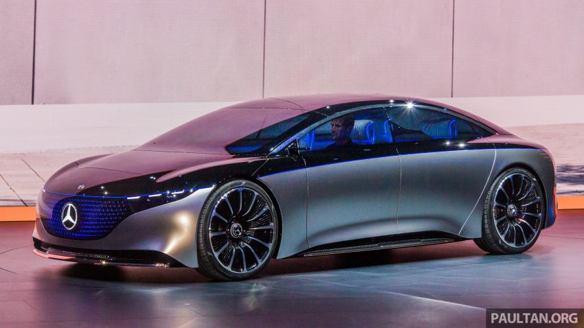 Mercedes-Benz Vision EQS debuts – concept electric flagship with over 470 hp, 760 Nm and 700 km range Image #1012665