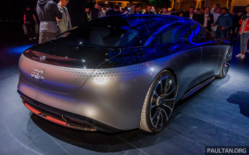 Mercedes-Benz Vision EQS debuts – concept electric flagship with over 470 hp, 760 Nm and 700 km range Image #1012673