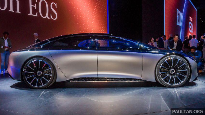 Mercedes-Benz Vision EQS buat penampilan sulung – konsep elektrik, 470 hp/760 Nm, 700 km jarak jalan Image #1012732
