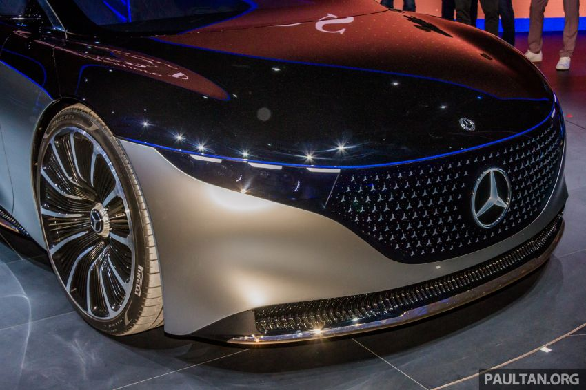 Mercedes-Benz Vision EQS debuts – concept electric flagship with over 470 hp, 760 Nm and 700 km range Image #1012677