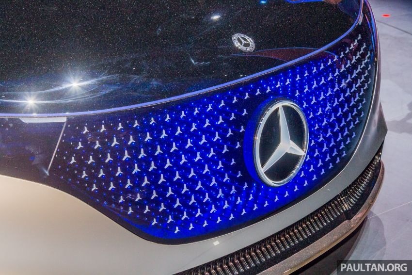 Mercedes-Benz Vision EQS debuts – concept electric flagship with over 470 hp, 760 Nm and 700 km range Image #1012679