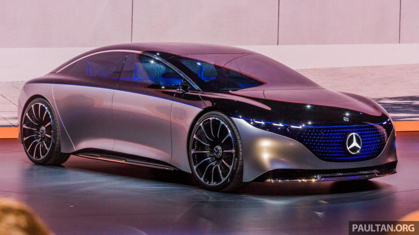 Mercedes-Benz Vision EQS debuts – concept electric flagship with over 470 hp, 760 Nm and 700 km range Image #1012666