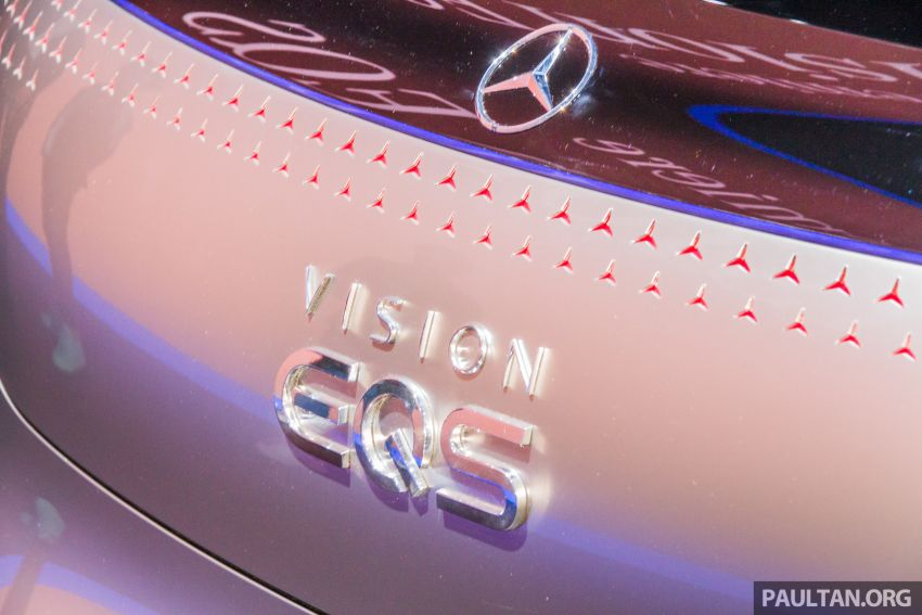 Mercedes-Benz Vision EQS debuts – concept electric flagship with over 470 hp, 760 Nm and 700 km range Image #1012684