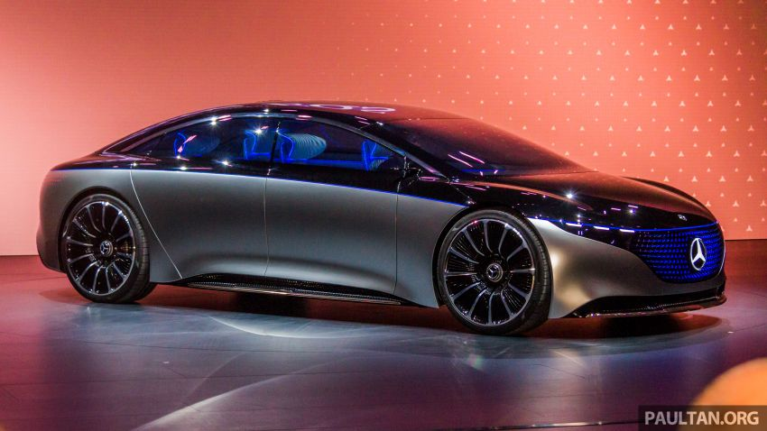 Mercedes-Benz Vision EQS debuts – concept electric flagship with over 470 hp, 760 Nm and 700 km range Image #1012667