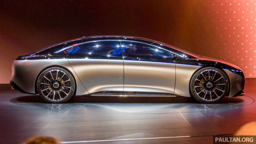 Mercedes-Benz Vision EQS debuts – concept electric flagship with over 470 hp, 760 Nm and 700 km range Image #1012668