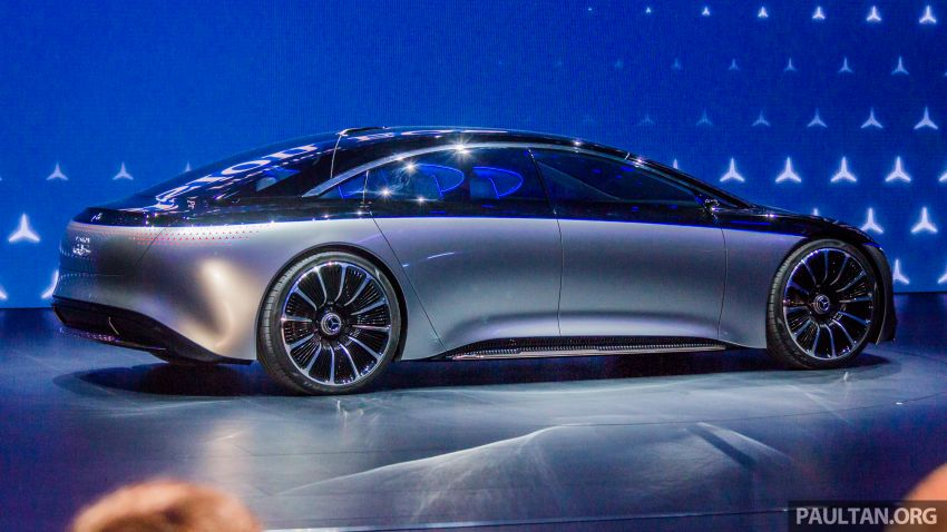 Mercedes-Benz Vision EQS debuts – concept electric flagship with over 470 hp, 760 Nm and 700 km range Image #1012669