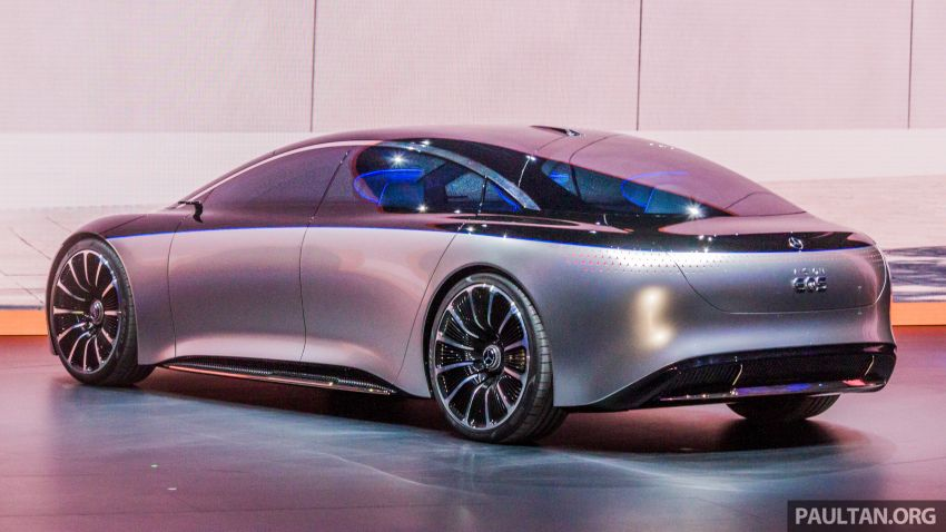 Mercedes-Benz Vision EQS debuts – concept electric flagship with over 470 hp, 760 Nm and 700 km range Image #1012670