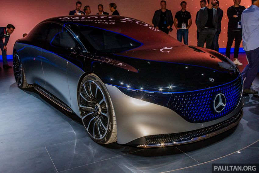 Mercedes-Benz Vision EQS debuts – concept electric flagship with over 470 hp, 760 Nm and 700 km range Image #1012688
