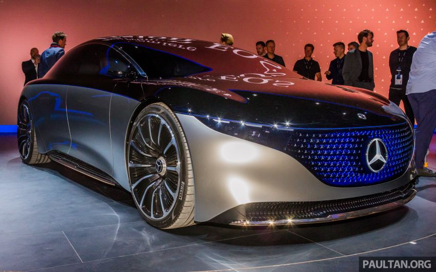 Mercedes-Benz Vision EQS debuts – concept electric flagship with over 470 hp, 760 Nm and 700 km range Image #1012671
