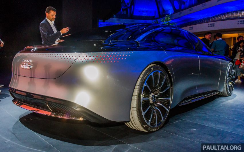 Mercedes-Benz Vision EQS debuts – concept electric flagship with over 470 hp, 760 Nm and 700 km range Image #1012672