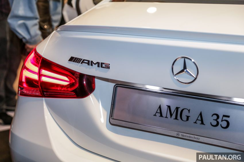 V177 Mercedes-AMG A35 4Matic Sedan launched in M'sia: 306 hp/400 Nm, 0-100 km/h in 4.8 secs, RM349k Image #1020453