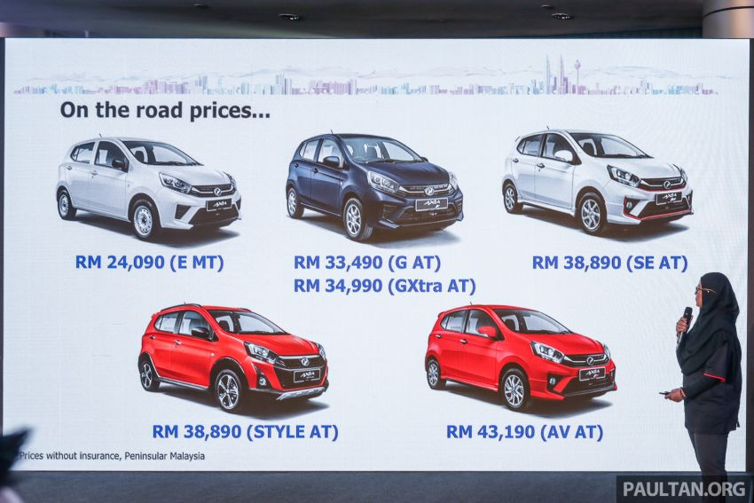 2019 Perodua Axia launched – 6 variants, new SUV-inspired 'Style' model, VSC and ASA, RM24k to RM43k Image #1018650