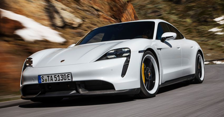 Porsche Taycan debuts – up to 761 PS, 1,050 Nm, 0-100 km/h in 2.8 seconds, 260 km/h, 450 km WLTP Image #1010999