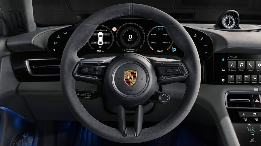 Porsche Taycan debuts – up to 761 PS, 1,050 Nm, 0-100 km/h in 2.8 seconds, 260 km/h, 450 km WLTP Image #1010985