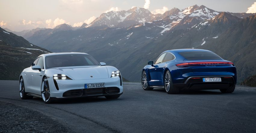 Porsche Taycan debuts – up to 761 PS, 1,050 Nm, 0-100 km/h in 2.8 seconds, 260 km/h, 450 km WLTP Image #1011007