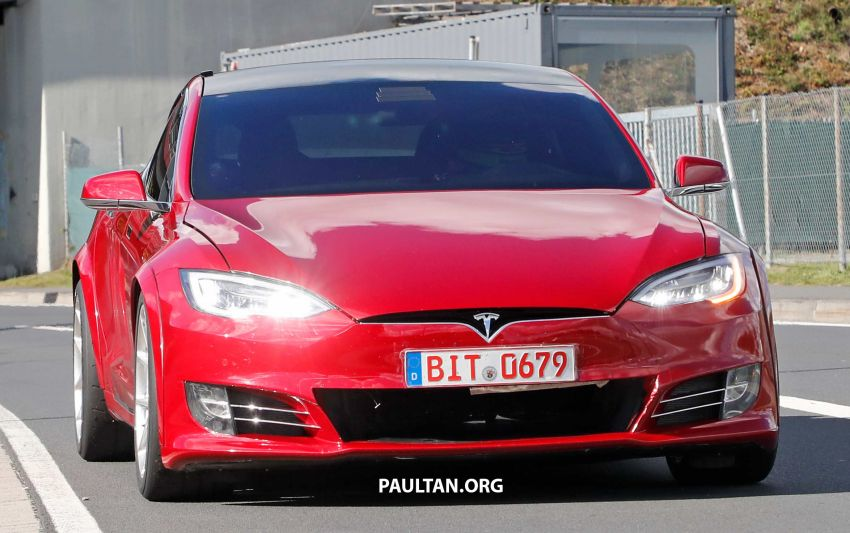 SPYSHOTS: Modified Tesla Model S testing near Nurburgring; lap record attempt, special edition soon? Image #1015447
