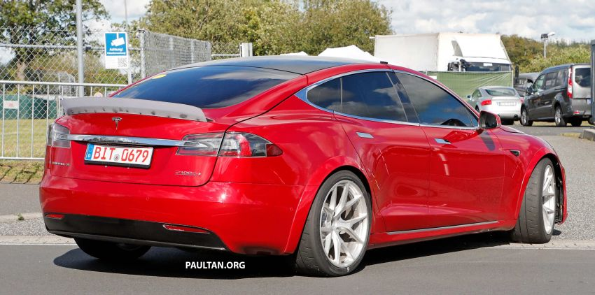 SPYSHOTS: Modified Tesla Model S testing near Nurburgring; lap record attempt, special edition soon? Image #1015459