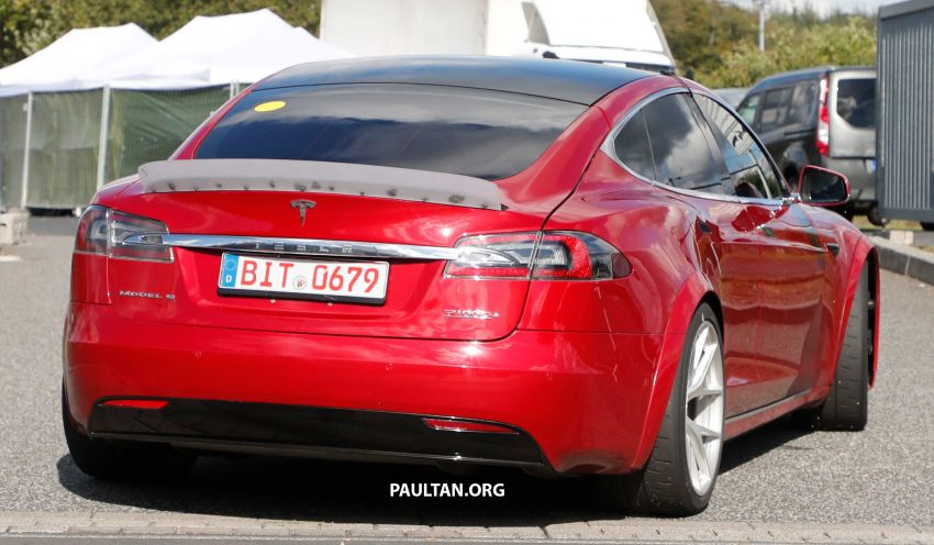 SPYSHOTS: Modified Tesla Model S testing near Nurburgring; lap record attempt, special edition soon? Image #1015461