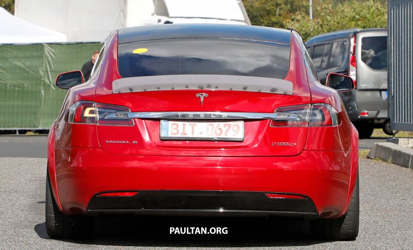 SPYSHOTS: Modified Tesla Model S testing near Nurburgring; lap record attempt, special edition soon? Image #1015462