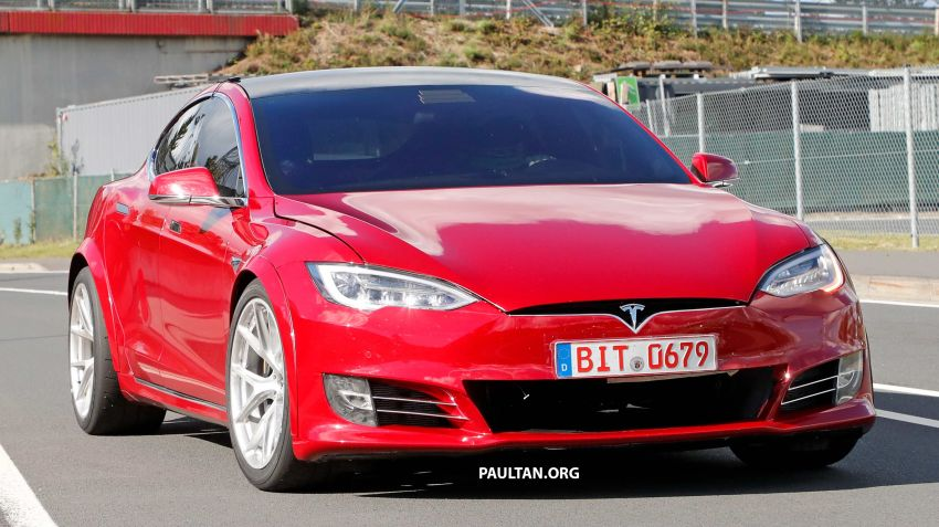 SPYSHOTS: Modified Tesla Model S testing near Nurburgring; lap record attempt, special edition soon? Image #1015448