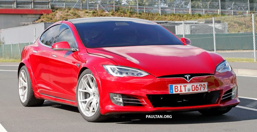 SPYSHOTS: Modified Tesla Model S testing near Nurburgring; lap record attempt, special edition soon? Image #1015449