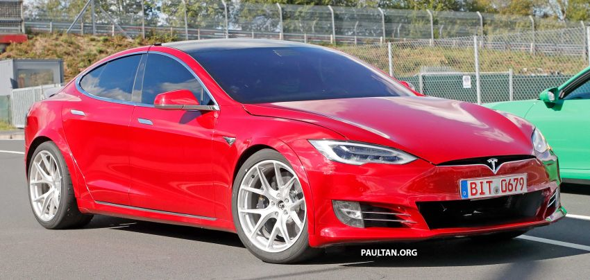 SPYSHOTS: Modified Tesla Model S testing near Nurburgring; lap record attempt, special edition soon? Image #1015450